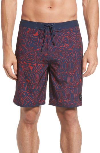 Rvca Psyched Board Shorts, Blue
