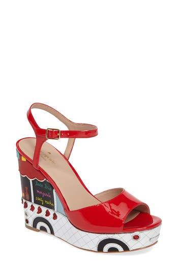 Kate Spade New York Dora Wedge Sandal- Red