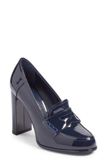 Saint Laurent Universite Loafer Pump - Blue