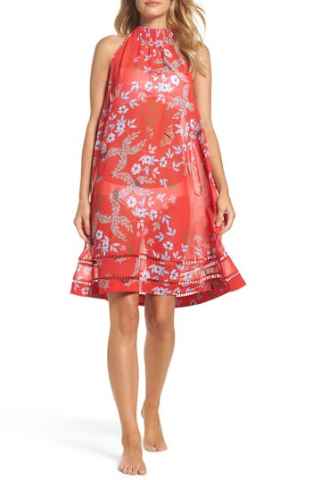 Ted Baker London Kyoto Halter Cover-Up Dress, Red