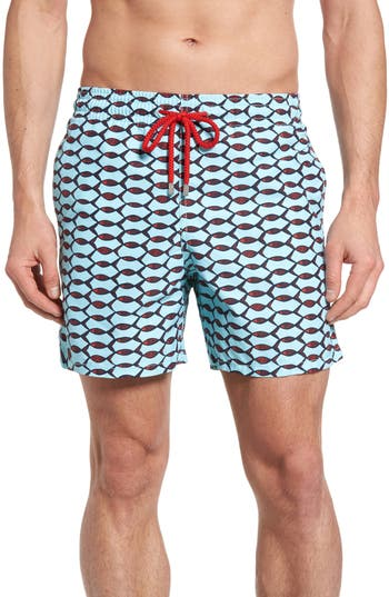 Vilebrequin Moorea Fishnet Print Swim Trunks