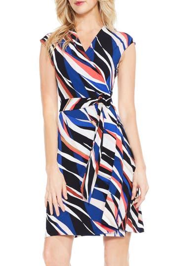 Women's Vince Camuto Graphic Zebra Wrap Dress, Size X-Small - Black