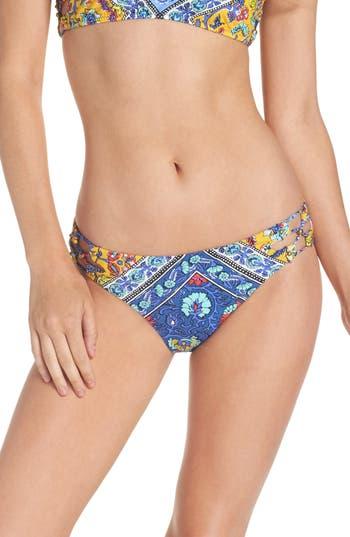 Nanette Lepore Woodstock Charmer Bikini Bottoms, Blue