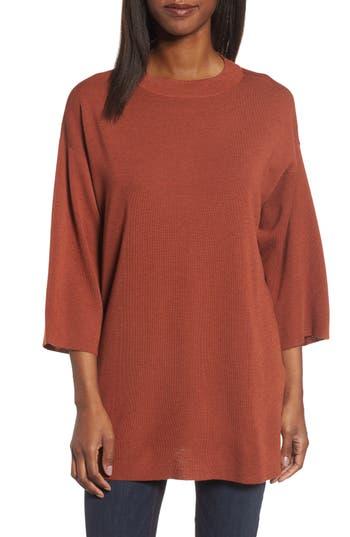 Eileen Fisher Merino Wool Tunic, Red