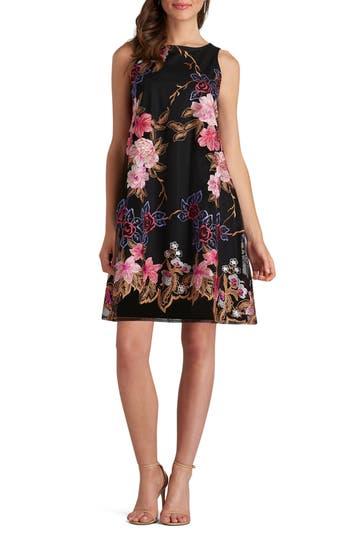 Eci Embroidered Shift Dress, Pink