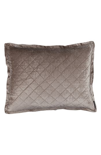 Lili Alessandra Chloe Luxe Euro Quilted Sham, Size Euro - Beige