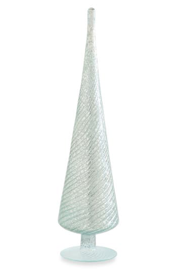 K  K Interiors Etched Mercury Glass Tabletop Finial