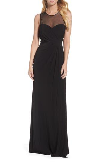 Vera Wang Draped Gown, Black
