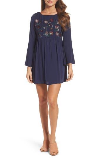 Bb Dakota Bria Woven Minidress, Blue