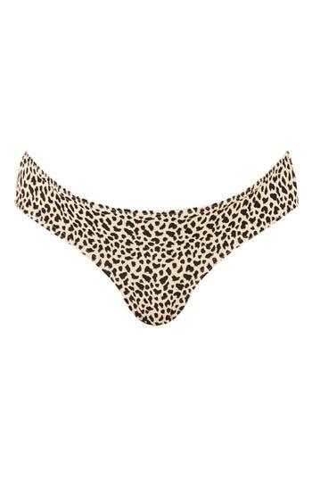 Topshop Leopard Maternity Bikini Bottoms, US (fits like 0-2) - Brown