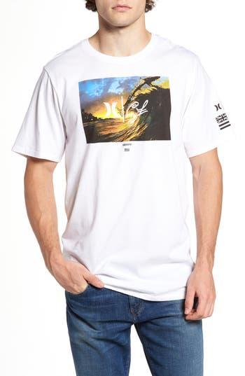 Hurley Clark Little - King Kamehameha Graphic T-Shirt, White