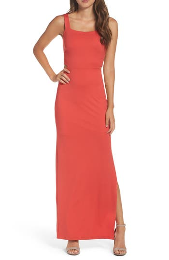 Women's Fraiche By J Maxi Dress, Size Small - Red