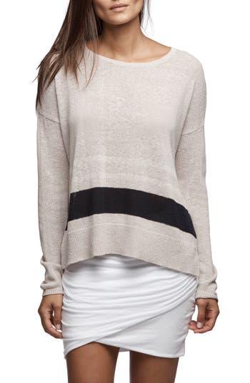 Women's James Perse Stripe Oversize Silk Blend Sweater