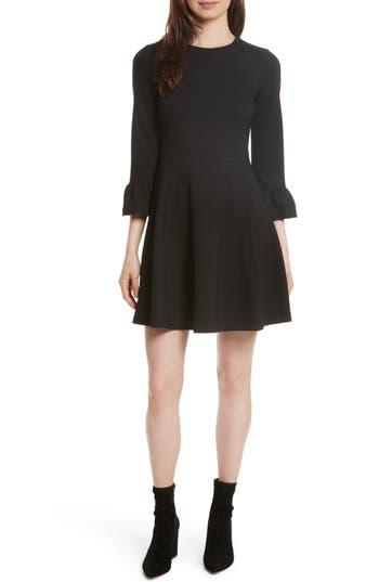 Kate Spade New York Ponte Knit Fit & Flare Dress, Black