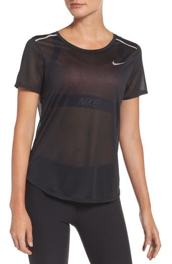 Nike Breathe Running Tee, Black