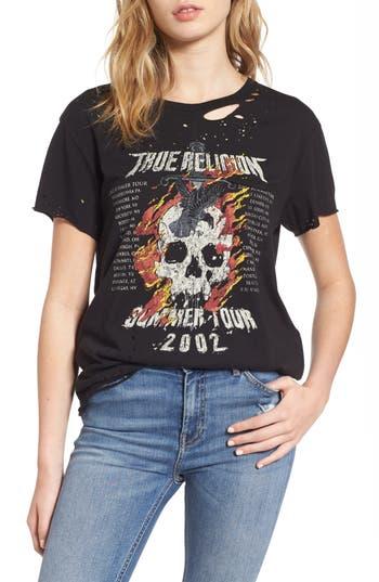True Religion Brand Jeans Skull Tour Tee, Black