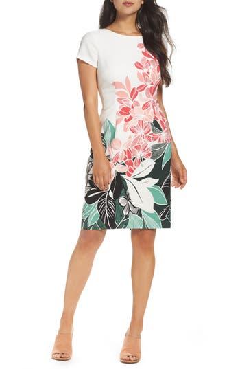 Adrianna Papell Crepe Sheath Dress, Pink