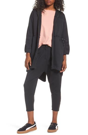 Women's Puma Lacing Midlayer Jacket, Size X-Small - Black