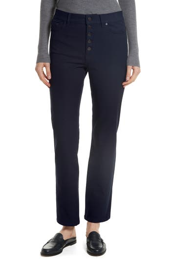 Women's Joseph Straight Leg Gabardine Pants