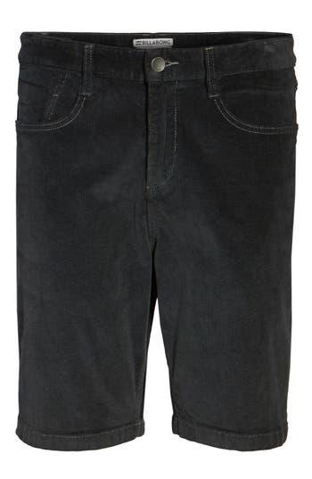 Billabong Outsider Corduroy Shorts, Black