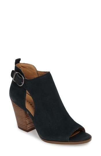 Lucky Brand Oona Open Side Bootie, Blue