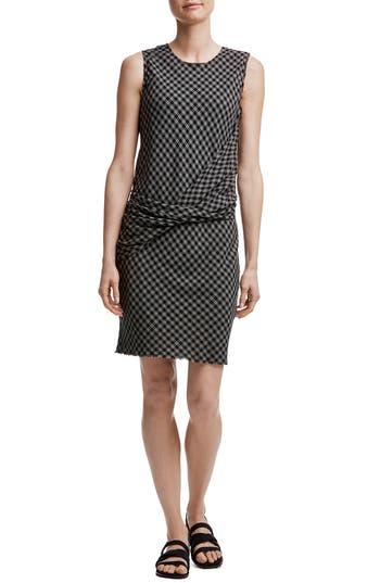 James Perse Twist Front Shift Dress, Grey