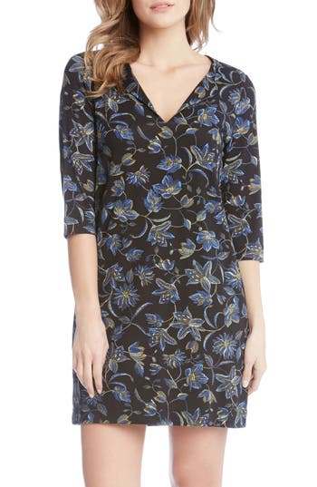 Karen Kane Floral Print Shift Dress, Purple