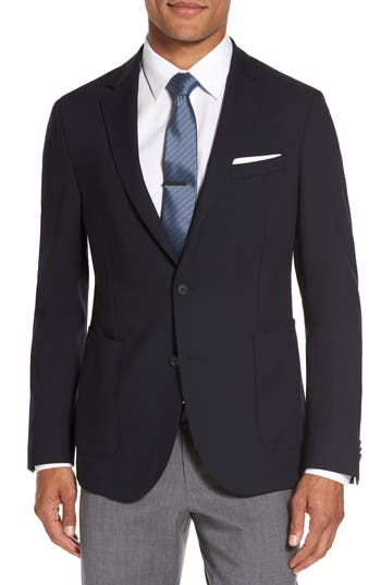 Men's Boss Trim Fit Wool Blazer