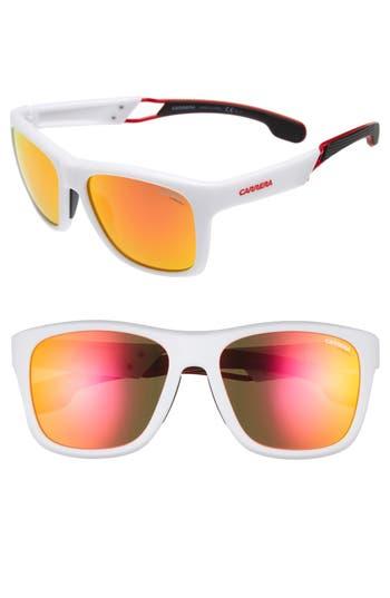 Carrera Eyewear 5m Sunglasses - Matte White/ Red Mirror