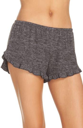 Women's Make + Model Cozy Ruffle Shorts, Size X-Small - Grey