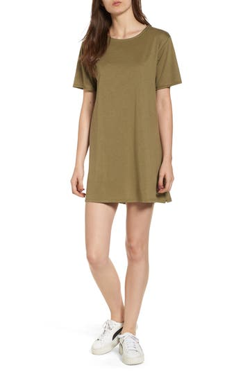 Pst By Project Social T Tie Back T-Shirt Dress, Green
