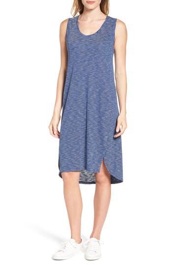 Caslon Shirttail Hem Tank Dress, Blue