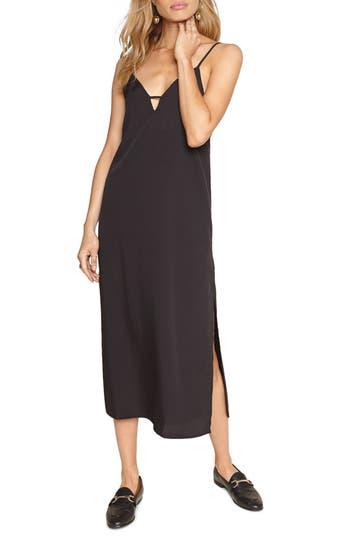 Amuse Society Stripe Midi Dress, Black
