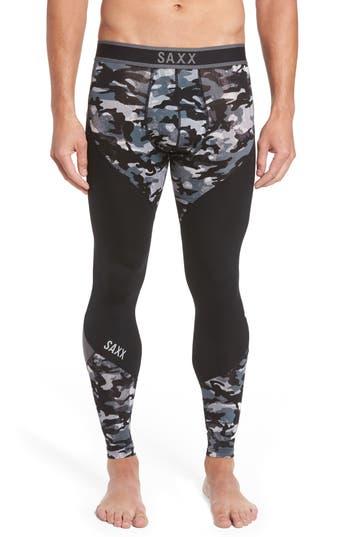 Saxx Kinetic Camo Colorblock Athletic Tights, Grey