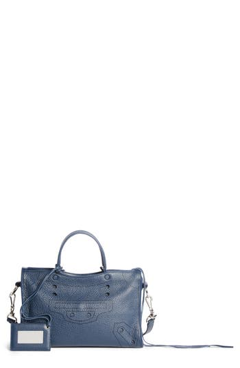 Balenciaga Small Blackout City Leather Tote - Blue at NORDSTROM.com