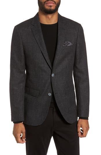 Men's Sand Trim Fit Wool & Cotton Blazer