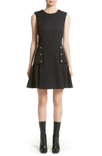 Alexander Mcqueen Military Peplum Dress, 8 IT - Black
