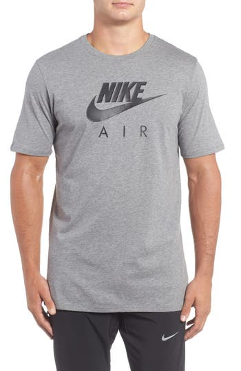 Nike Logo Graphic T-Shirt, Grey