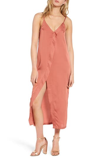 The Fifth Label Cue The Beats Midi Slipdress, Coral