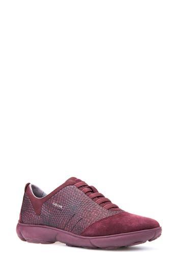 Women's Geox Nebula Slip-On Sneaker, Size 5US / 35EU - Burgundy