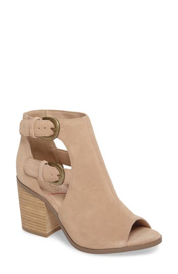 Sole Society Hyperion Peep Toe Bootie, Brown