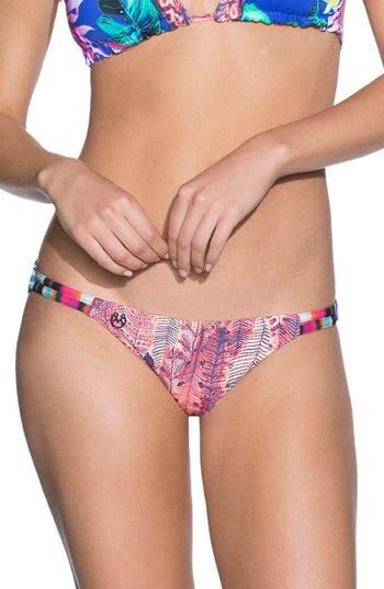 Maaji Rolling Carpets Reversible Bikini Bottoms, Blue