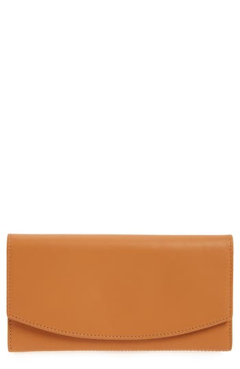 Skagen Leather Continental Flap Wallet - Brown