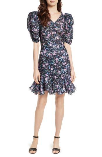 Rebecca Taylor Ruby Floral Organza Dress, Blue