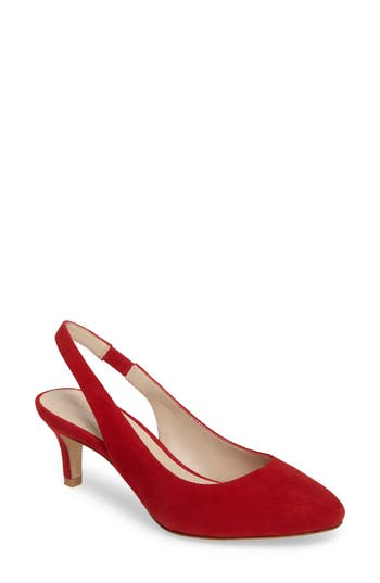 Pelle Moda Kadance Slingback Pump, Red