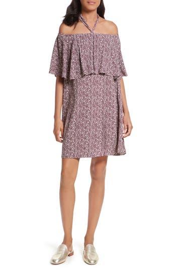 Rebecca Minkoff Havasu Off The Shoulder Dress, Burgundy