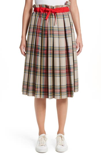 Women's Sofie D'Hoore Pleated Technical Gabardine Skirt