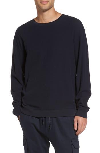 Vince Waffle Knit Sweatshirt, Blue