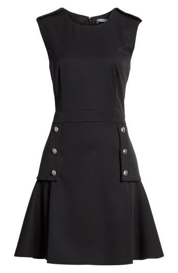 Alexander Mcqueen Military Peplum Dress, US / 42 IT - Black