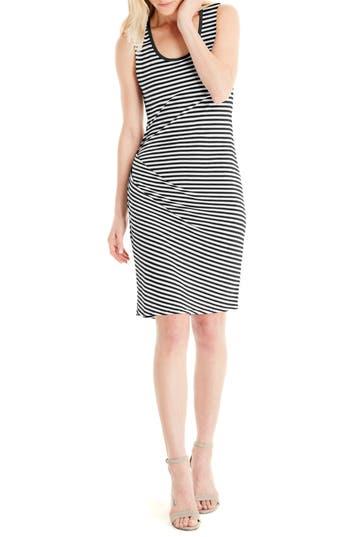 Michael Stars Stripe Tank Dress, Black